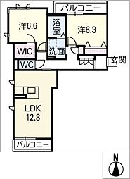 仮)シャーメゾン楽田町[3階]の間取り
