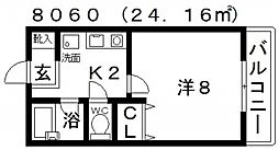 センターフィールドパートIII[302号室号室]の間取り