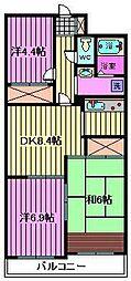 エルシ—弐番館[501号室]の間取り