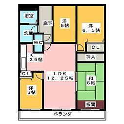 ニューコーポ一宮[5階]の間取り