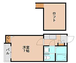 ピュア箱崎拾壱番館[1階]の間取り