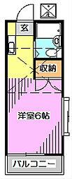 コーポ・ブライト[2階]の間取り