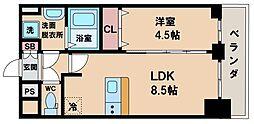 プレサンスOSAKA DOMECITY ワンダー 11階1LDKの間取り