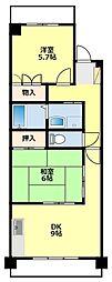 愛知県豊田市月見町2丁目の賃貸マンションの間取り