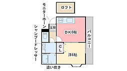 福岡県糸島市高田4丁目の賃貸アパートの間取り