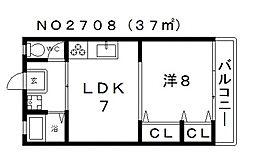 喜多マンション[3階]の間取り