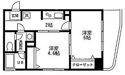 クレール羽田 bt[-402号室]の間取り