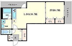 ヘーベル桜川[2階]の間取り