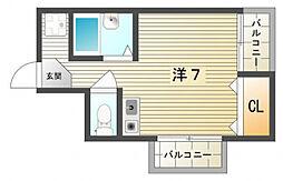 第2寝屋川コーポラス[4階]の間取り