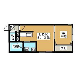 メディクレスト[4階]の間取り