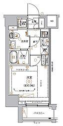 京急本線 南太田駅 徒歩4分の賃貸マンション 5階1Kの間取り