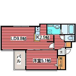 T−STYLE STELLA[4階]の間取り