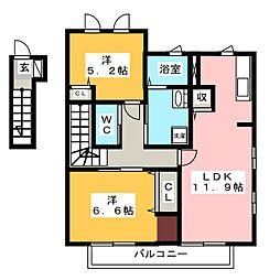 メゾン勝沼 10[2階]の間取り