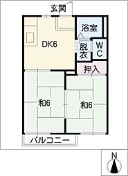 コーポチェリーブロッサムB棟[1階]の間取り