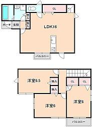 [タウンハウス] 大阪府豊中市熊野町3丁目 の賃貸【/】の間取り