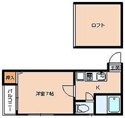 景雪寮[2階]の間取り