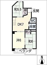 霞ヶ丘ビル[3階]の間取り