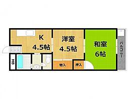 寿コーポ[3階]の間取り
