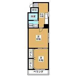 アーカス三条[2階]の間取り