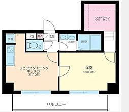 神奈川県横浜市中区相生町1丁目の賃貸マンションの間取り