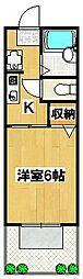 ゆかりハイツA棟[1階]の間取り