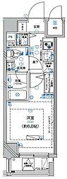 Le'a横濱東口弐番館 3階1Kの間取り
