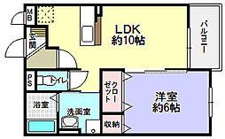 コンフォート隅田口[2階]の間取り