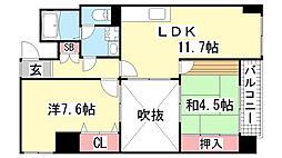 ウィング長田北町[3階]の間取り