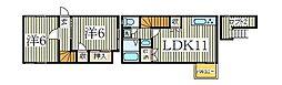 湖北テラスハウス N[1階]の間取り