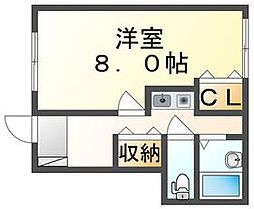 JR高徳線 昭和町駅 徒歩7分の賃貸アパート 1階1Kの間取り