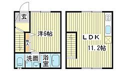 [テラスハウス] 兵庫県姫路市山吹2丁目 の賃貸【/】の間取り