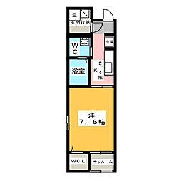 岡山県岡山市南区豊成2丁目の賃貸マンションの間取り