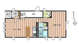 JR奥羽本線 さくらんぼ東根駅 徒歩11分の賃貸アパート 1階1LDKの間取り