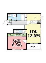 神奈川県藤沢市鵠沼桜が岡2丁目の賃貸マンションの間取り