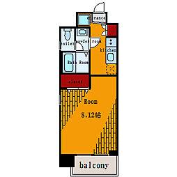 らく万築地ビル[5階]の間取り