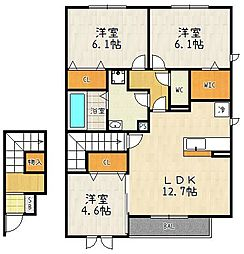 仮称)D-room大津市雄琴6丁目[202号室]の間取り