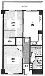 千代田マンション[2階]の間取り
