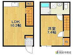 仮)Loft ZEN新築 1階1LDKの間取り