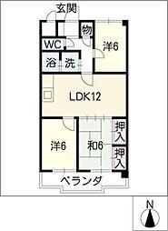 パークタウン小田井[2階]の間取り