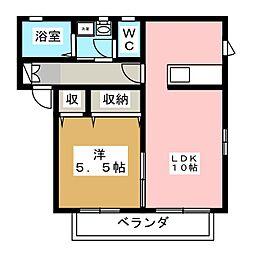 ボンヌ・シャンス弐番館[2階]の間取り