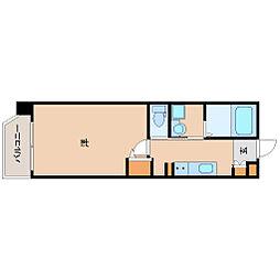 阪神本線 尼崎駅 徒歩8分の賃貸マンション 3階1Kの間取り