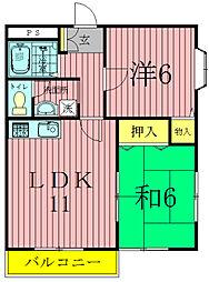 富士ハウス[205号室]の間取り