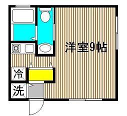 6[E 2階号室]の間取り