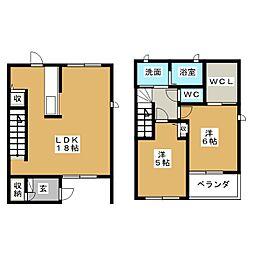 [テラスハウス] 静岡県藤枝市光洋台 の賃貸【/】の間取り
