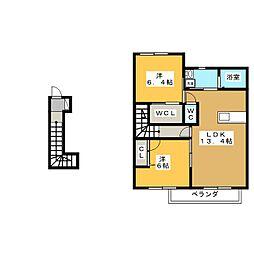 ファミール平井[2階]の間取り