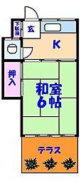清和荘[3号室]の間取り