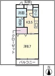 GRACE大井I[1階]の間取り