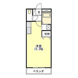 レヴール[2階]の間取り