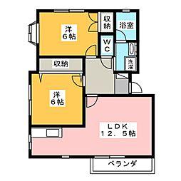 井草ハイツD[2階]の間取り