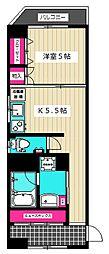 第7高橋ビル[410号室]の間取り